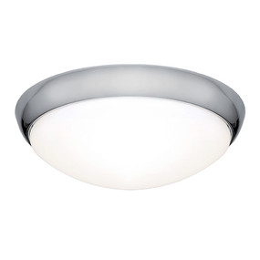 Oyster Light - Modern Dome 3000K 1000lm 16W Chrome