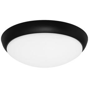 Oyster Light - Modern Dome 5000K 1450lm 27W Black