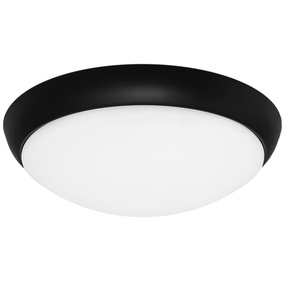 Oyster Light - Modern Dome 3000K 1350lm 27W Black