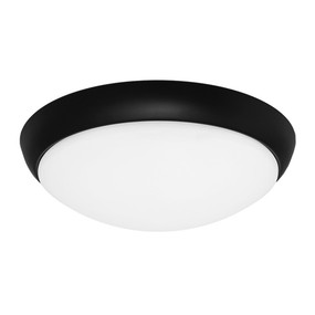 Oyster Light - Modern Dome 5000K 1100lm 16W Black
