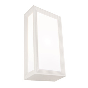 Wall Light - Marine Grade Modern Chic Vertical 40W IP54 285mm White