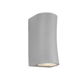 Up Down Light - Marine Grade Chic Curved 3000K 542lm Silver