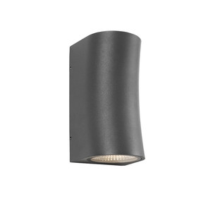 Up Down Light - Marine Grade Chic Curved 3000K 542lm Charcoal