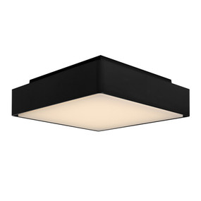 Oyster Light - Marine Grade Square 3000K 800lm 220mm 12W IP65 Black