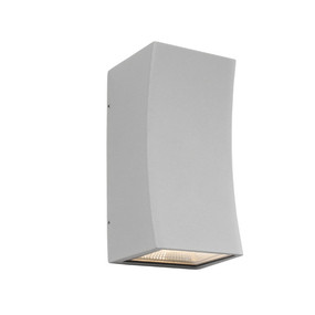 Up Down Light - Marine Grade Sleek Vertical Curved 3000K 534lm IP54 Silver