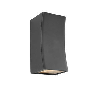 Up Down Light - Marine Grade Sleek Vertical Curved 3000K 534lm IP54 Charcoal
