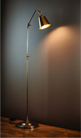 Floor Lamp - Sleek Slender 1650mm 40W Antique Brass