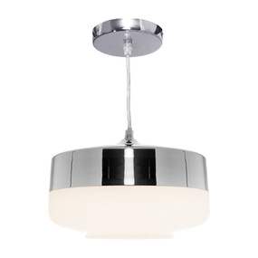 Pendant Light - Stunning Semi Glass 60W Chrome