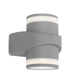 Up Down Light - Marine Grade Sleek Cylindrical 3000k 505lm Grey