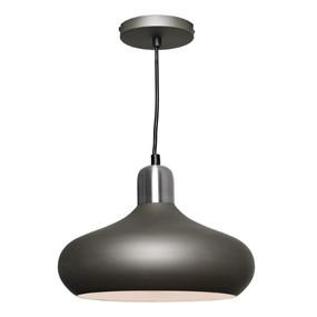 Pendant Light - Modern Hanging Dome 60W Satin Chrome