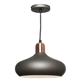 Pendant Light - Modern Hanging Dome 60W Copper