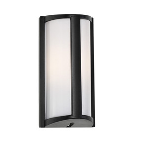 Outdoor Wall Light - Marine Grade Modern Rounded Vertical 253mm IP44 40W Black
