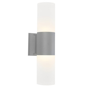 Up Down Light - Marine Grade Modern Cylinder 3000K 410lm Silver