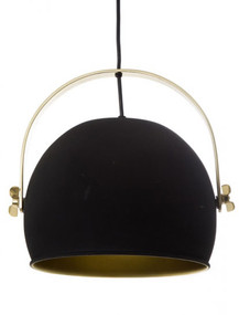 Pendant Light - Dome Hanging 300mm 25W Black