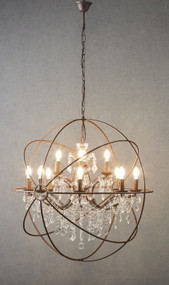 Chandelier - Designer Spherical 970mm 40W Bronze