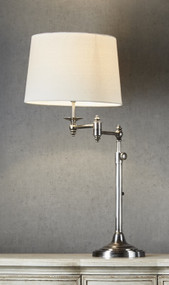 Table Lamp - Modern Adjustable 660mm 40W Antique Silver