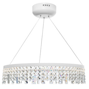 Pendant Light - Contemporary Circular Crystal 3000K 3354lm White