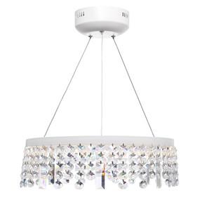 Pendant Light - Contemporary Circular Crystal 3000K 2805lm White