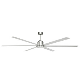 Ceiling Fan - Massive 244cm Satin Nickel 5 Speed With Remote