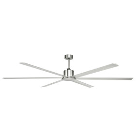 Ceiling Fan - Massive 214cm Satin Nickel 6 speed