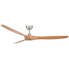 Akordi Satin Nickel Ceiling Fan - 5 Speed 152cm 37W