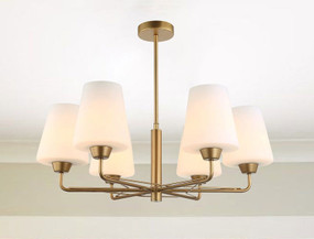 Pendant Light - Classic Sleek 530mm 72W Matt Gold