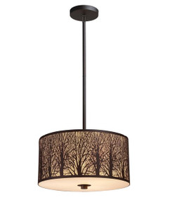 Pendant Light - Modern Hanging 3 Lights 214mm 60W Aged Bronze