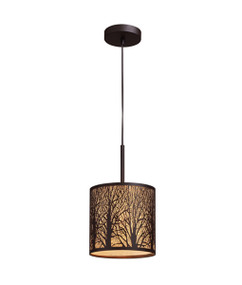 Pendant Light - Modern Hanging 346.8mm 60W Aged Bronze