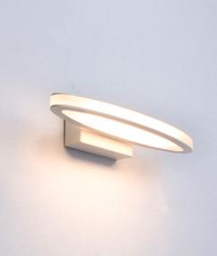 Indoor Wall Light - Sleek Oval Shape 3000K 460lm 6W Matt White