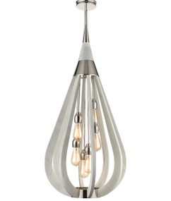 Pendant Light - Hanging Tear drop 6 Lights 1076mm 60W Winter Moss