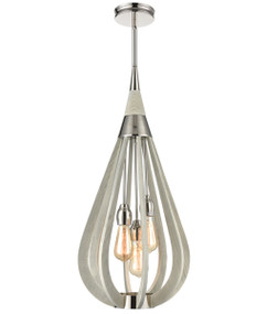 Pendant Light - Hanging Tear drop 3 Lights 768mm 60W Winter Moss