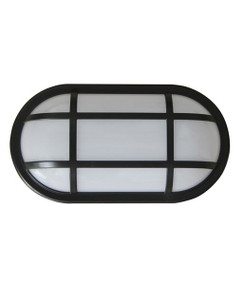 Bunker Light - Modern Cage Oval 5000K 1700lm 271mm 20W Black