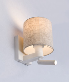 Indoor Wall Light - Refined Drum 5000K 298lm Matt White