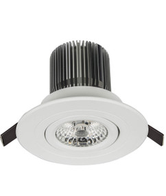 Gimble Downlight - Dimmable 10W 900lm IP20 Tri Colour 100mm White