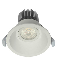 LED Downlight - Dimmable 10W 850lm IP20 Tri Colour 100mm Matt White