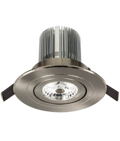 Gimble Downlight - Dimmable 10W 900lm IP20 Tri Colour 100mm Brushed Nickel