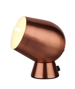 Touch Lamp - Smooth Unique Shaped 175mm 25W Copper Finish