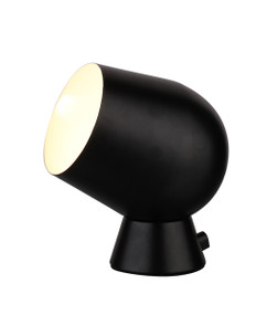 Touch Lamp - Smooth Unique Shaped 175mm 25W Black