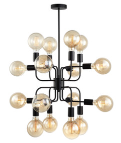 Pendant Light - Modern Unique 460mm 72W Matt Black