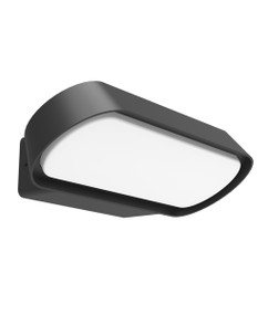 Outdoor Wall Light - Smooth Rectangular 3000K 330lm 74mm 13W Dark Grey