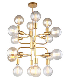 Pendant Light - Modern Unique 460mm 72W Matt Gold