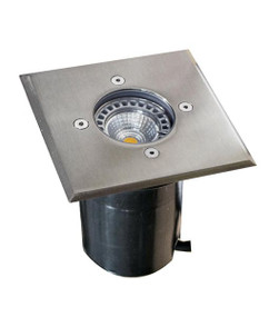 Ground Light - 240V Marine Grade 316 Stainless Steel GU10 35W IP67 120mm Square