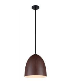 Pendant Light - Sleek Oblong 280mm 72W Dark Wood Finish