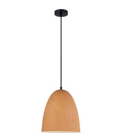 Pendant Light - Sleek Oblong 280mm 72W Golden Wood Finish