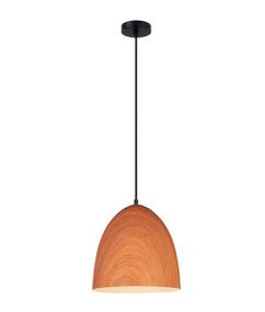 Pendant Light - Sleek Oblong 280mm 72W Blushing Wood Finish