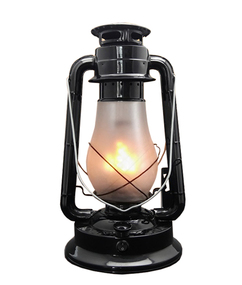 Table Lamp - Traditional  Lantern 390mm 3W Gloss Black
