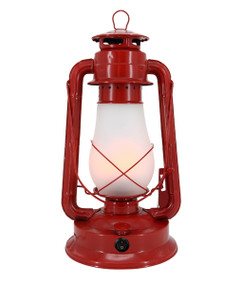 Table Lamp - Traditional  Lantern 390mm 3W Gloss Red