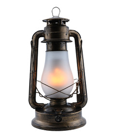Table Lamp - Traditional Lantern 390mm 3W Bronze