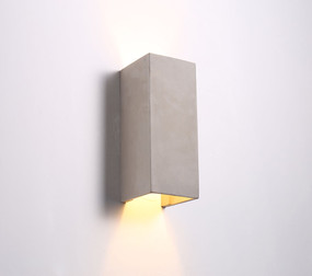 Up Down Light - Chic 3000K 500lm 300mm 5W Cement Coloured