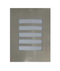 Outdoor Wall Light - 240V Marine Grade 316 Stainless Steel E27 60W IP54 28cm